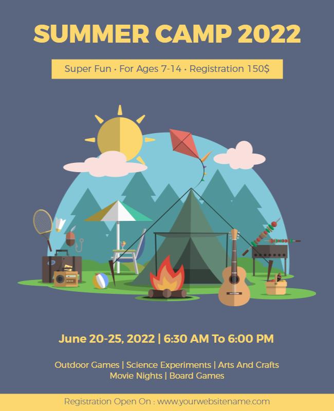 summer camp flyer