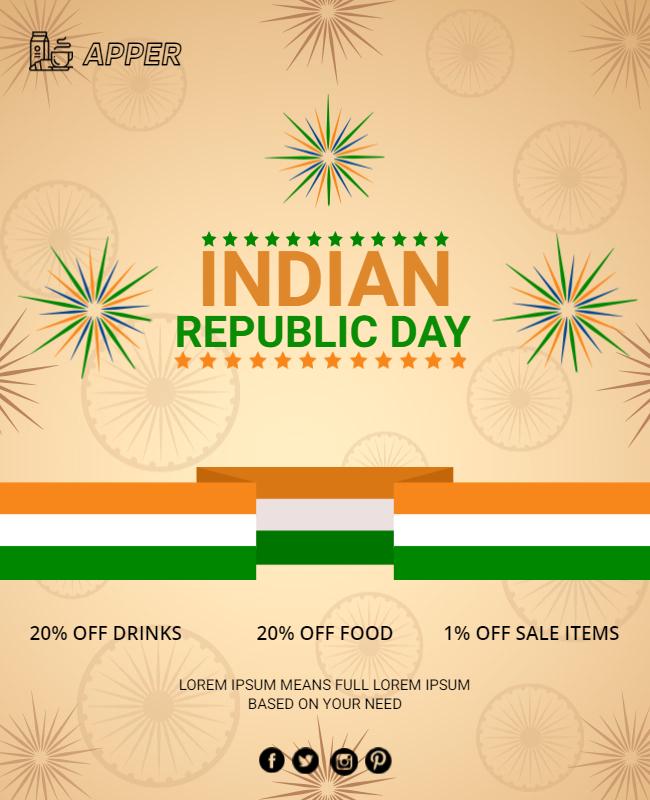 happy republic day post idea