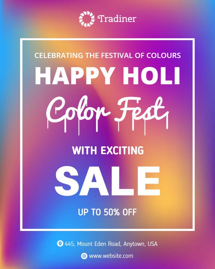 happy holi post idea