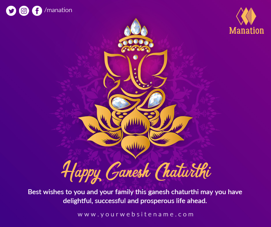 happy ganesh chaturthi card post