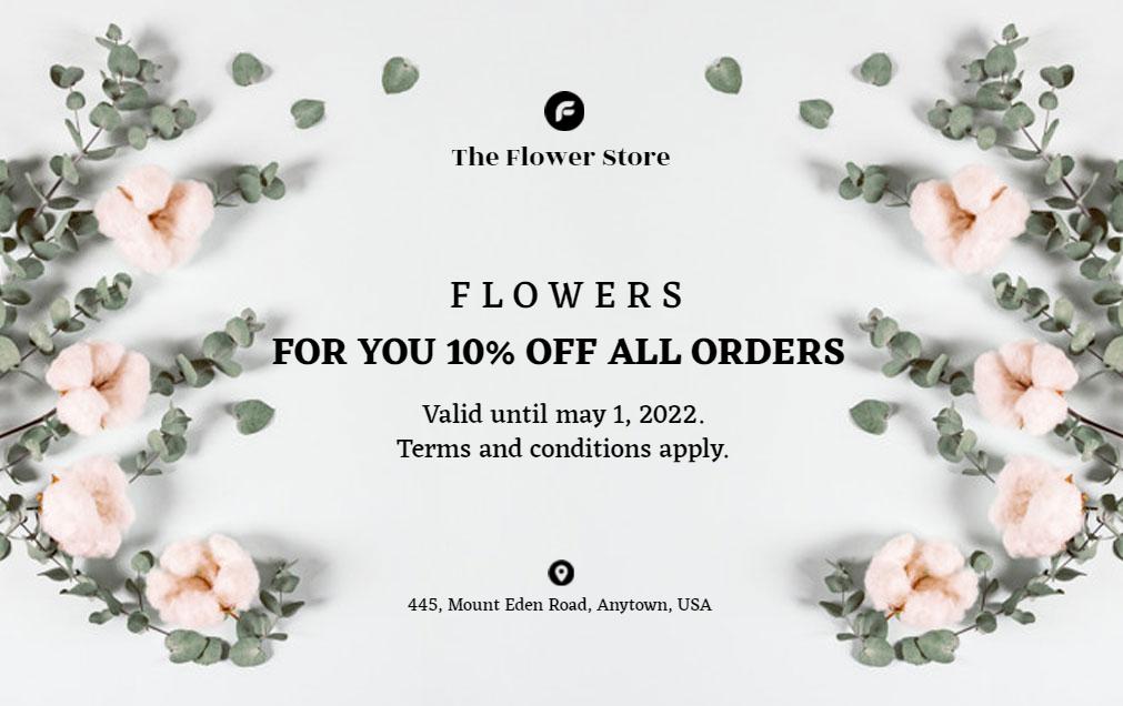 flower gift card ideas