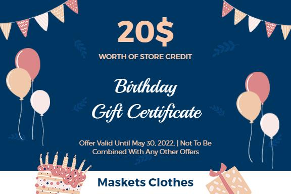 birthday gift card ideas