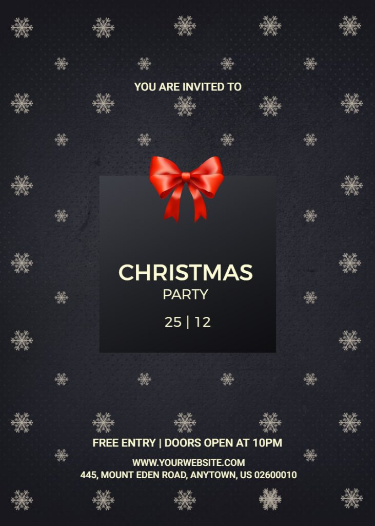 Christmas party invitation design sample