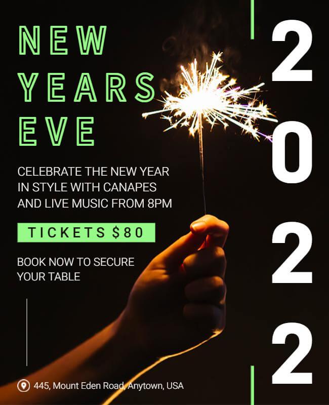 New Year Dark Poster Templates
