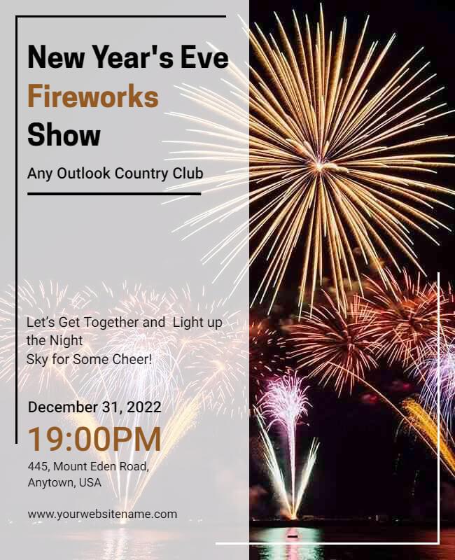 New Year firework template