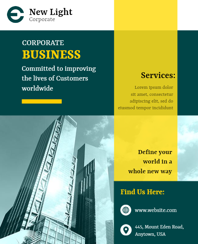 corporate flyer examples