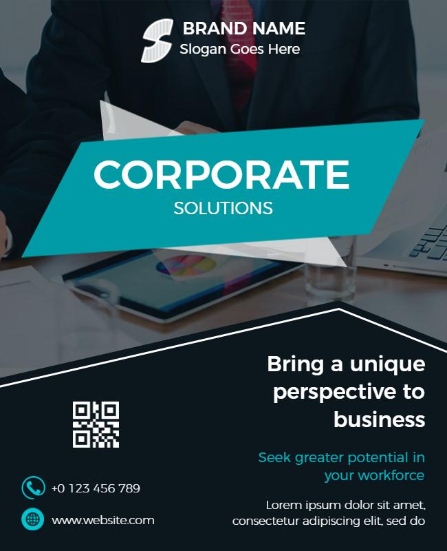 corporate flyer design ideas