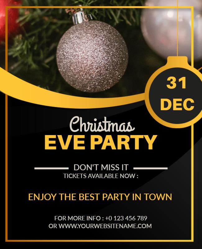 Christmas party flyer ideas