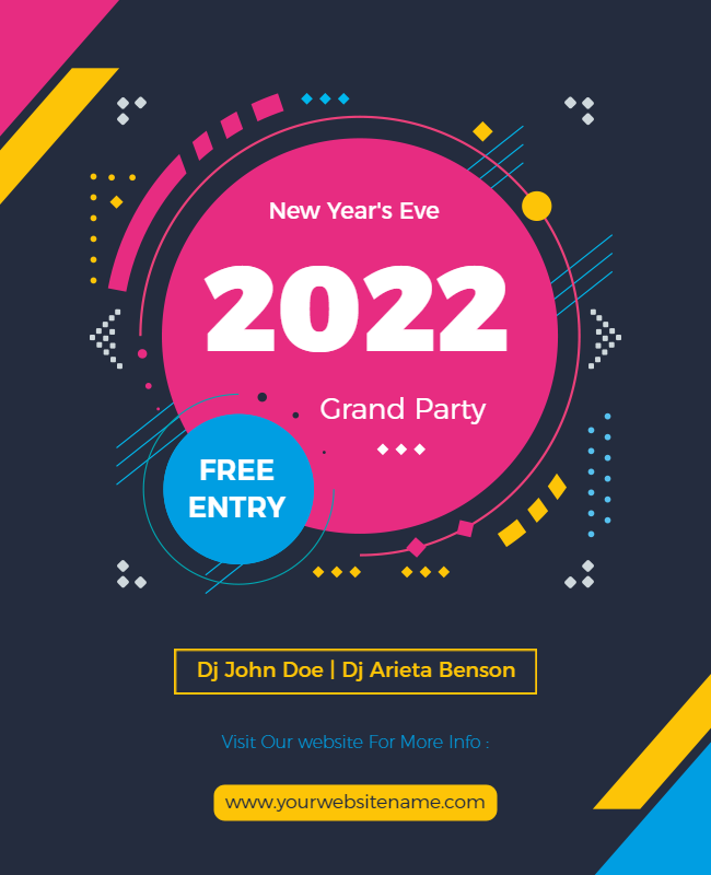 New year party flyer ideas