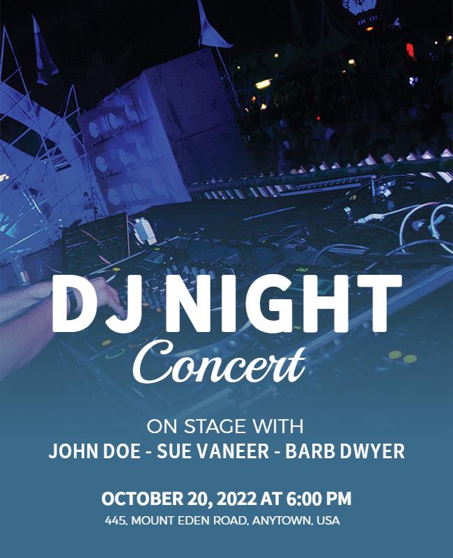 DJ party flyer design