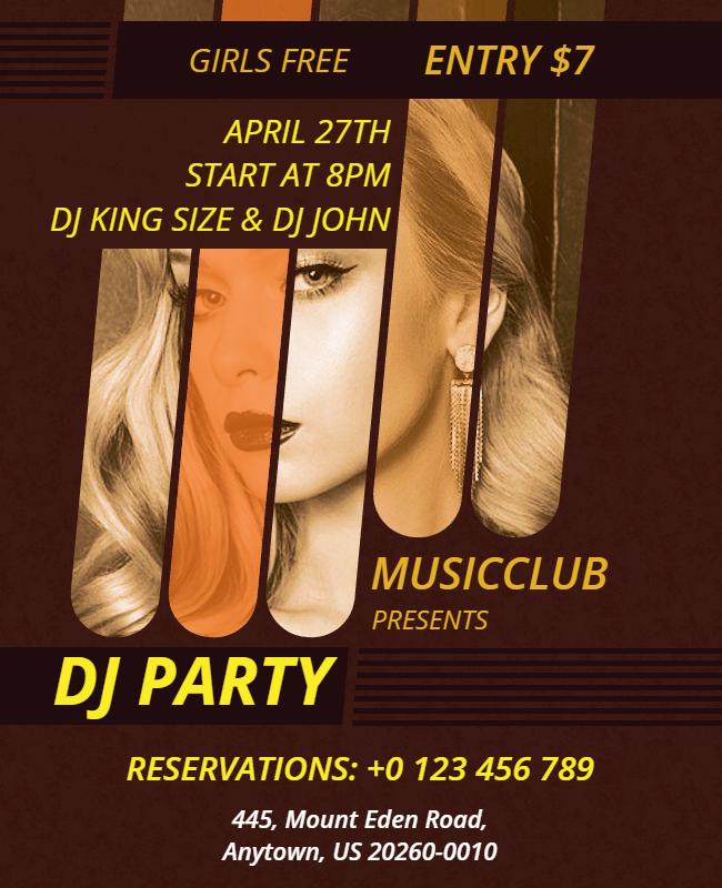 DJ party flyer ideas