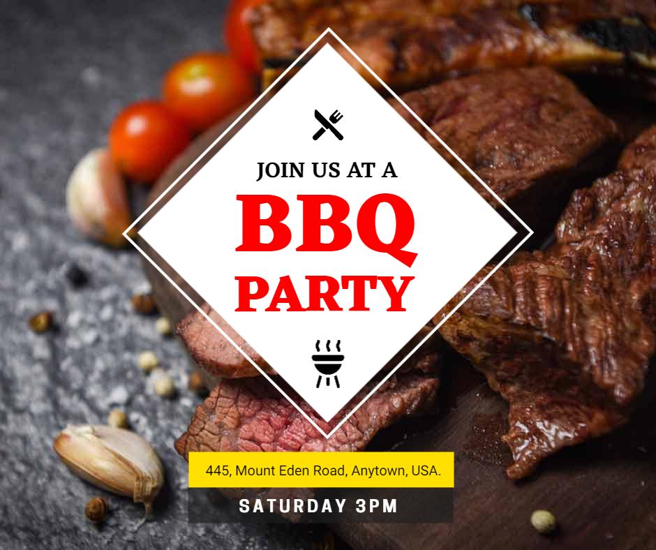 BBQ party flyer illustration
