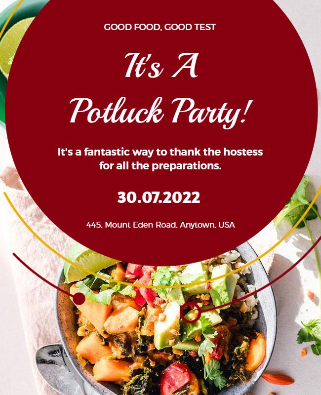 Potluck party flyer designs