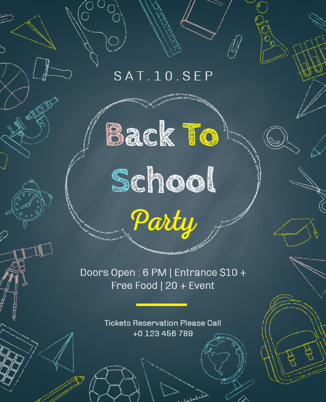 Back to school party flyer ideas