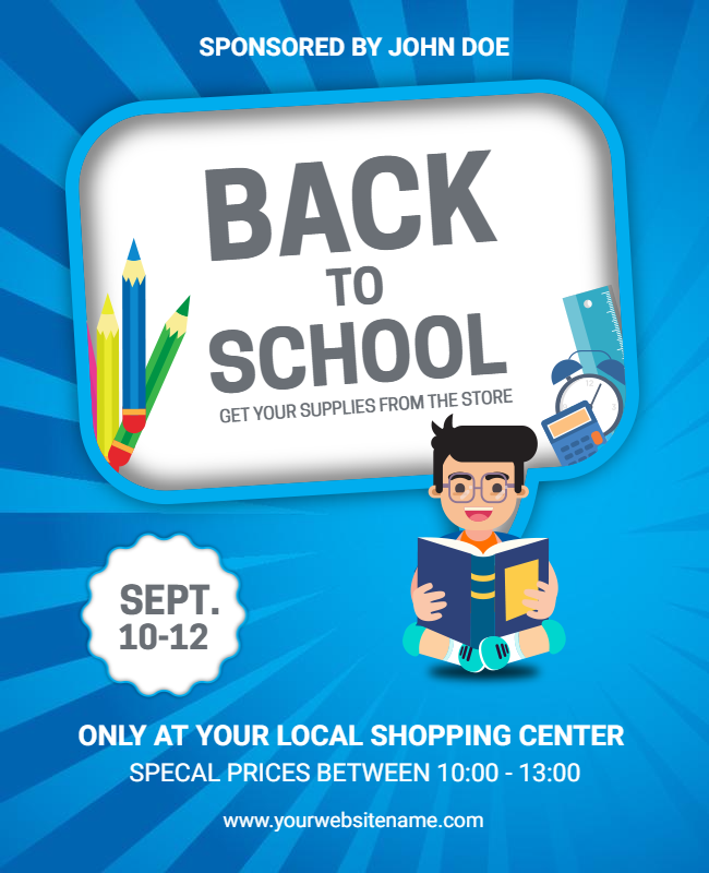 Back to school party flyer samples