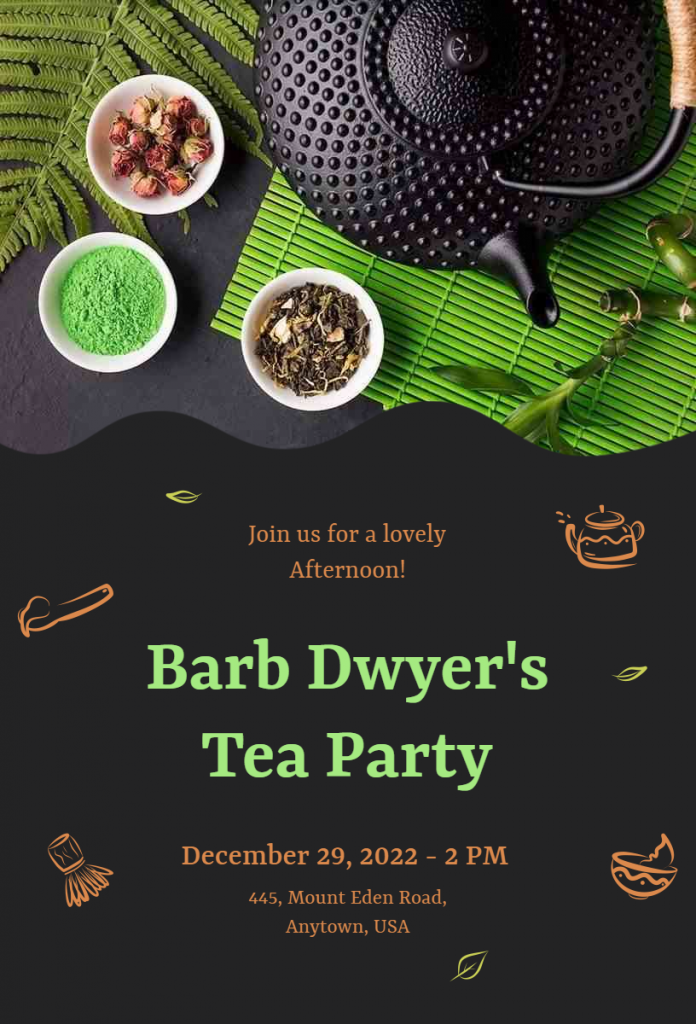 Tea party flyer ideas