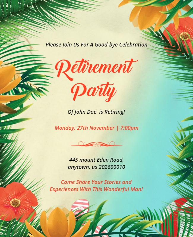 Retirement party flyer ideas