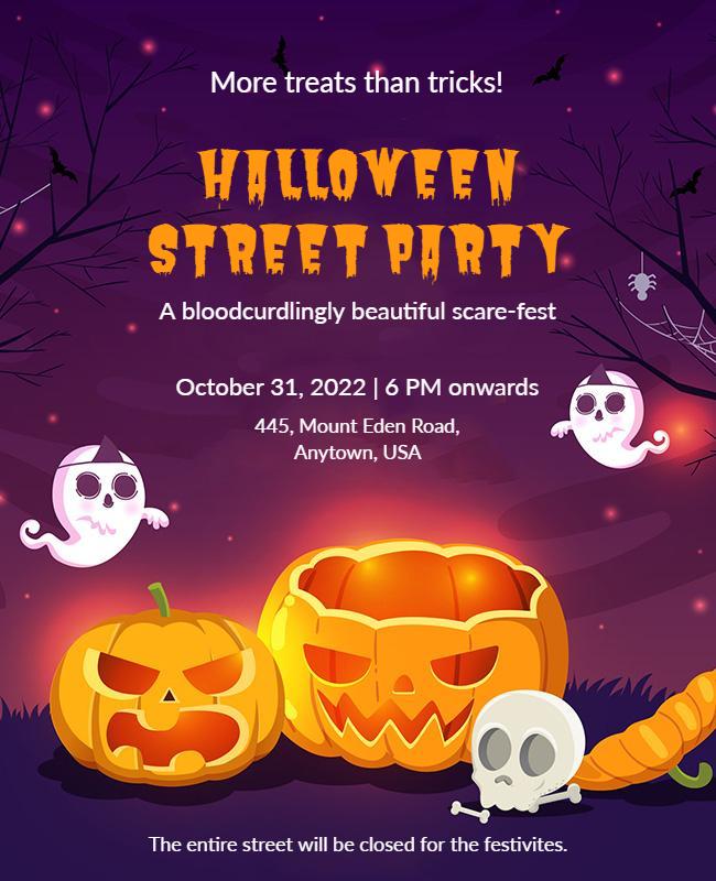 Halloween party flyer designs