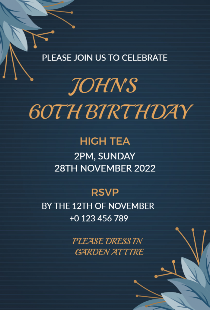 Birthday party flyer designs