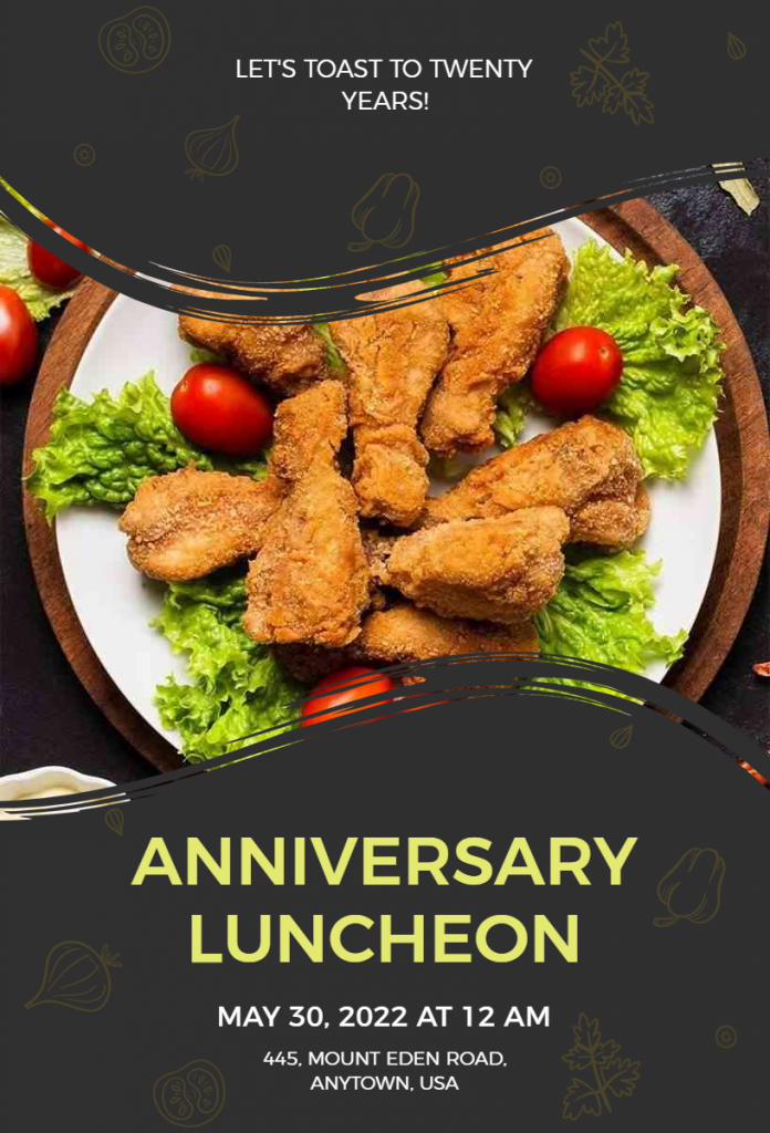 Anniversary Lunch Party Flyer ideas