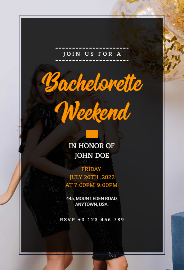 Bachelor Weekend Party flyer ideas