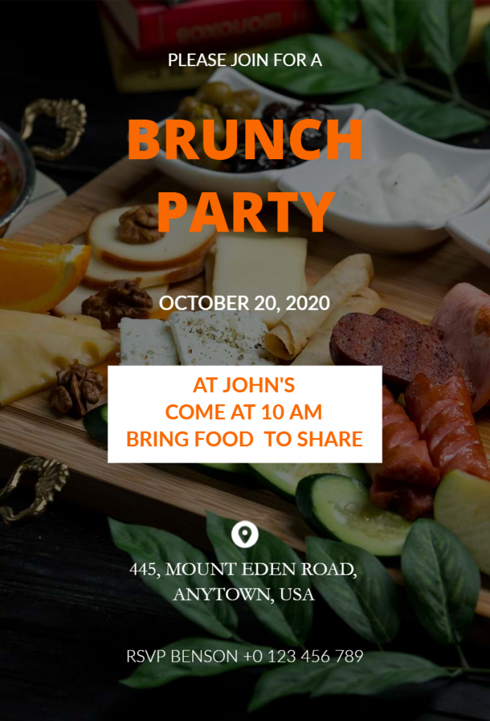 Brunch party flyer ideas