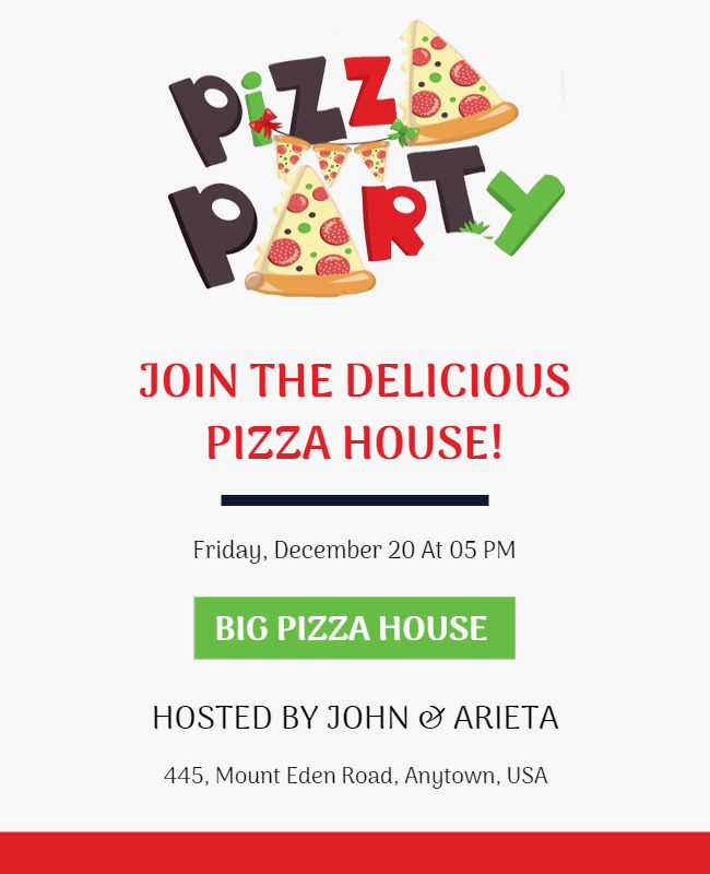 Pizza Party Flyer designs