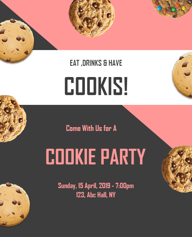 Cookie Party Flyer designs
