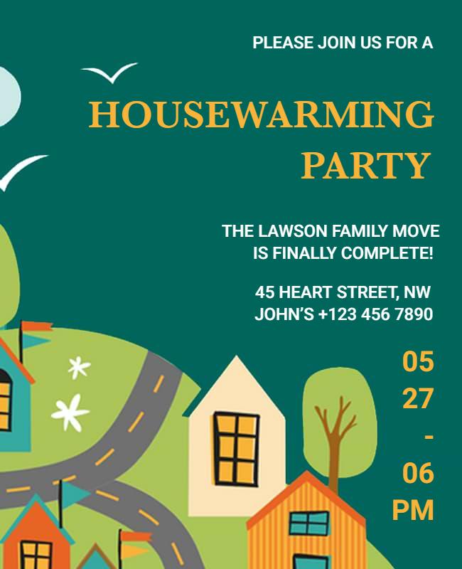 Housewarming Party Flyer designs