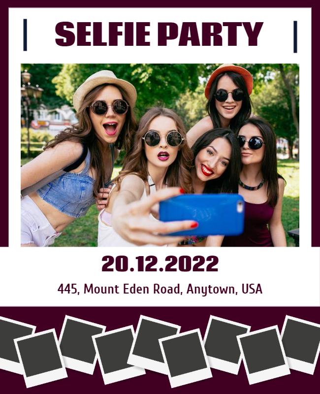 Selfie Party Flyer designs
