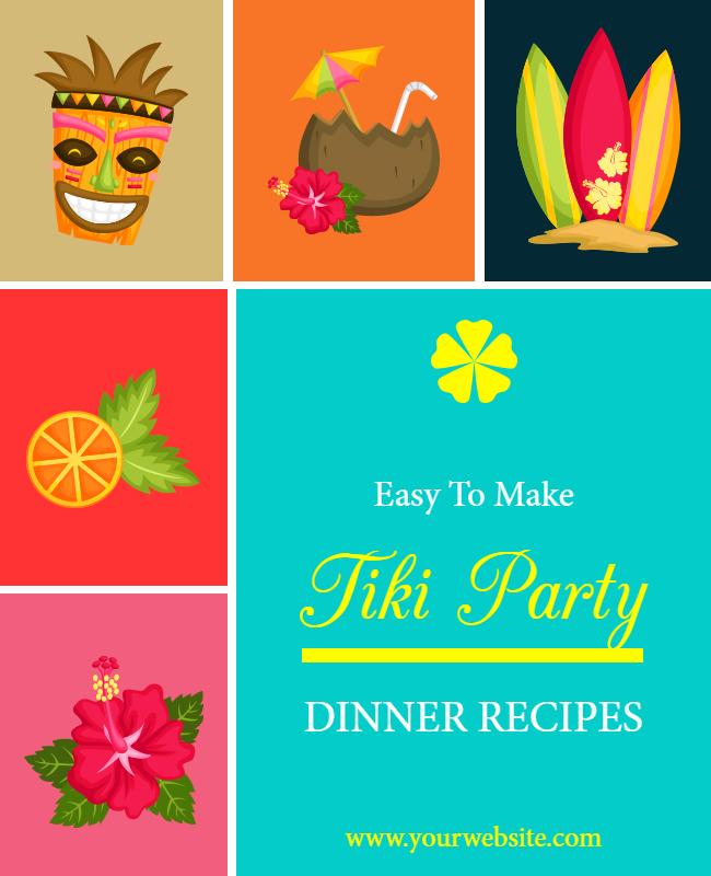 Tiki Party Flyer designs
