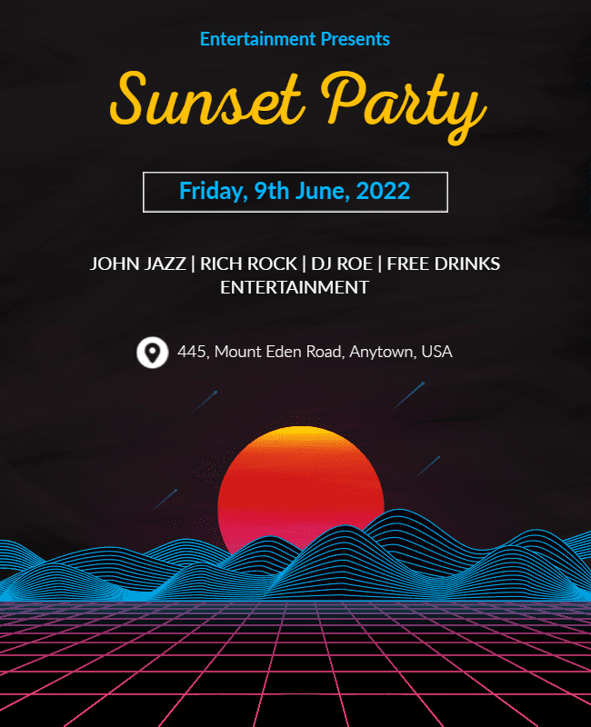 Sunset Party Flyer ideas