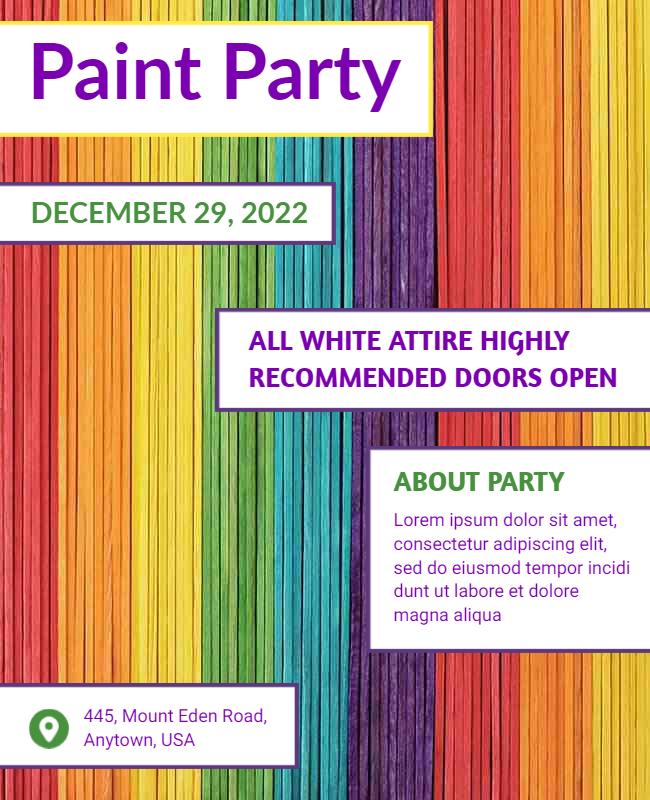 Paint party flyer designs