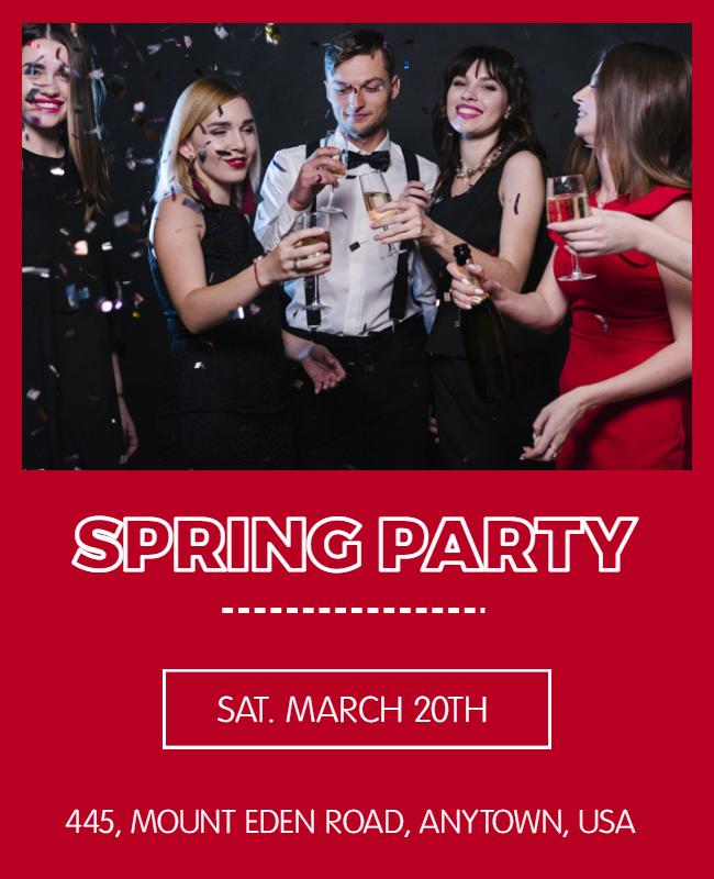 Spring Party Flyer designs