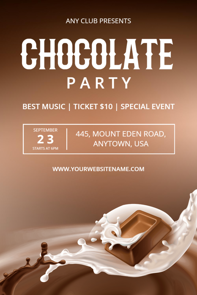 Chocolate Party Flyer templates