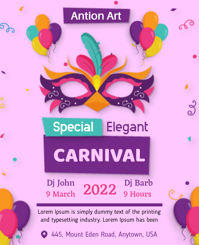 Carnival Party Flyer ideas