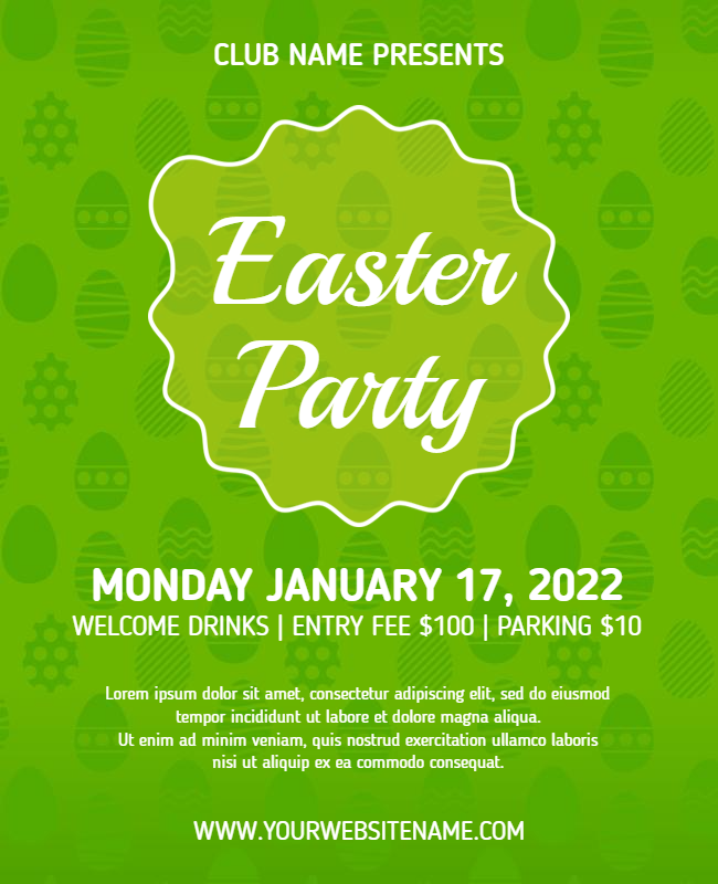 Easter Party Flyer designs