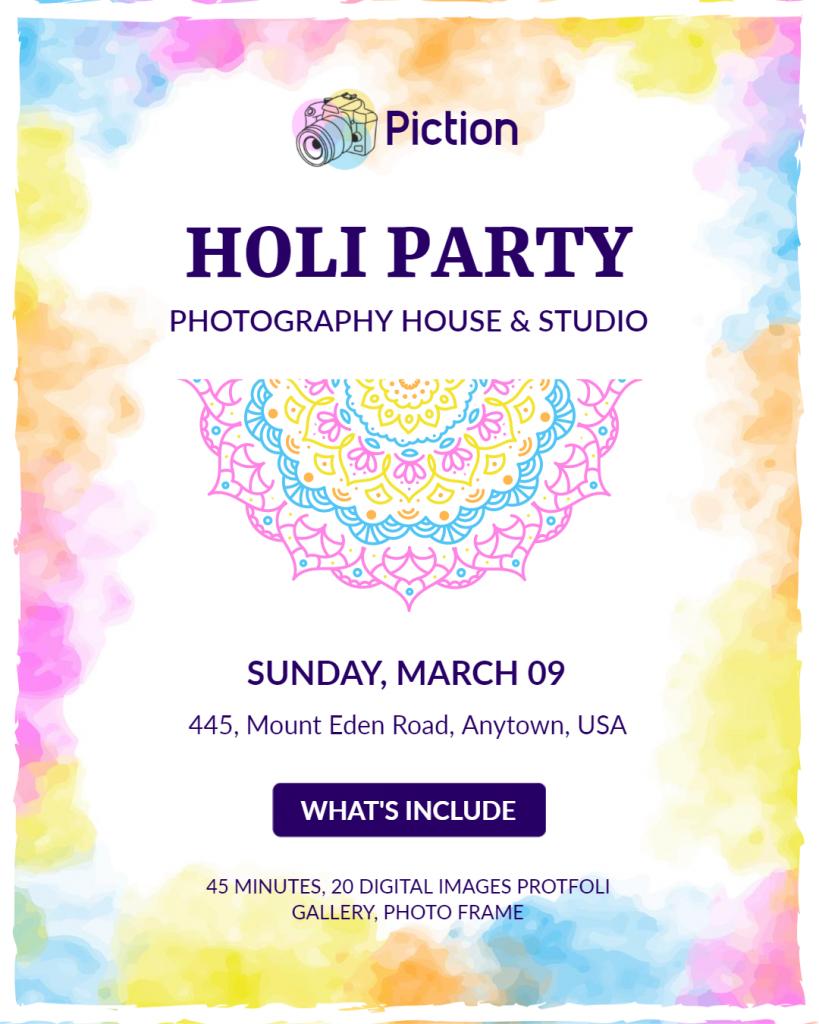 Holi Party Flyer ideas