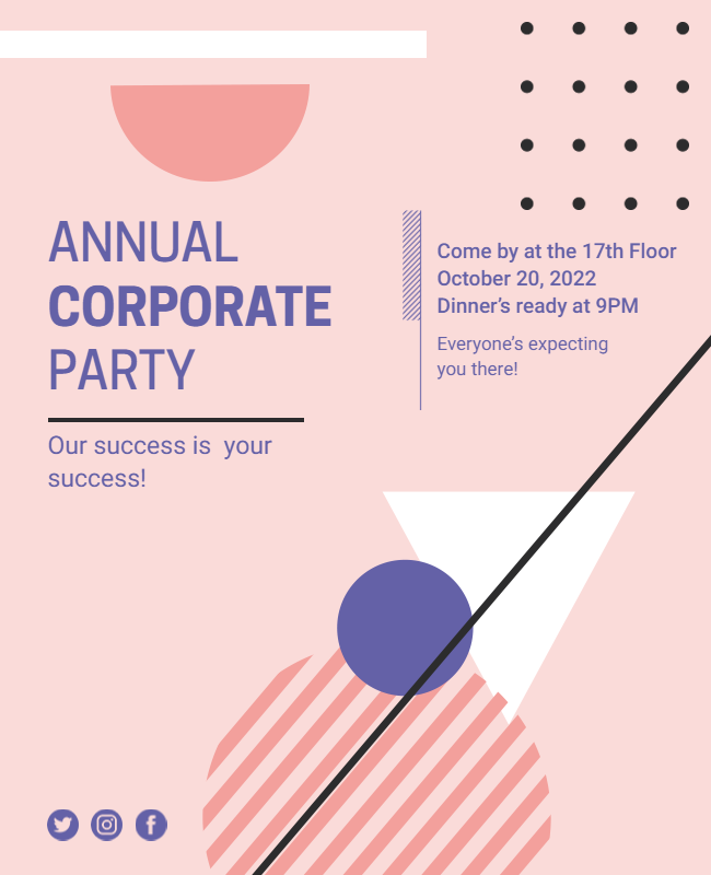 Corporate Party Flyer ideas