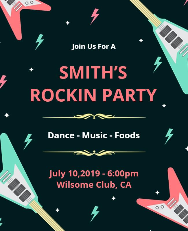 Rockin Party Flyer designs