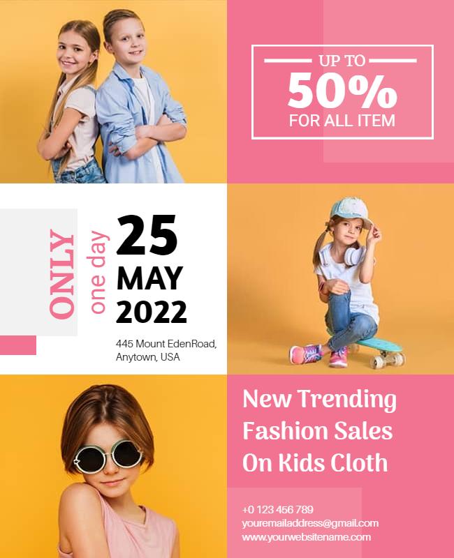 Fashion flyer design ideas