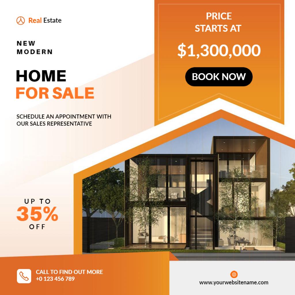 Property for Sale Flyer design exampls