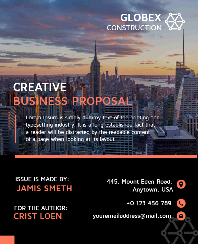 Business proposal flyer ideas