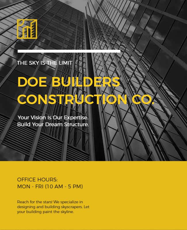 Construction flyer design samples
