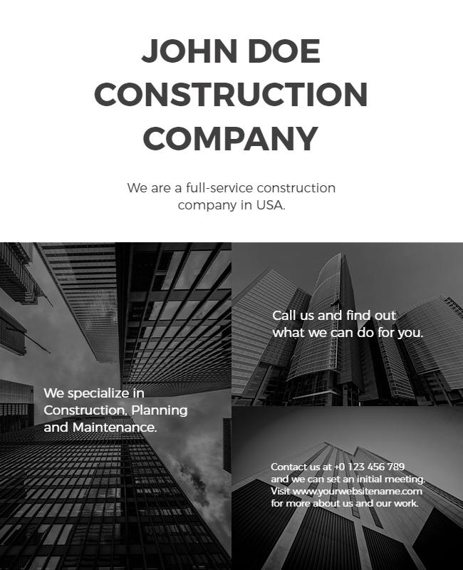 Construction flyer design ideas