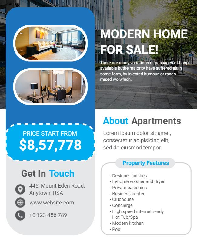 Home for sale flyer design ideas