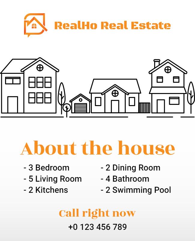 Real estate flyer design illustration