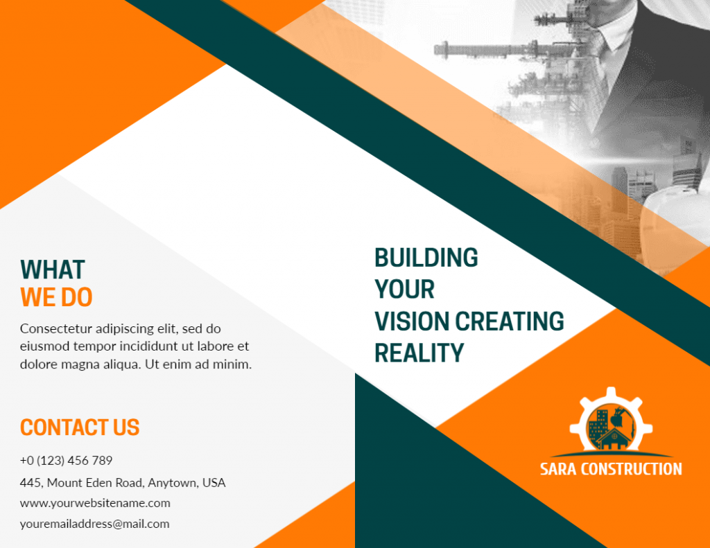 construction flyer design examples