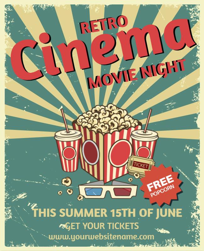 Movie night flyer design ideas