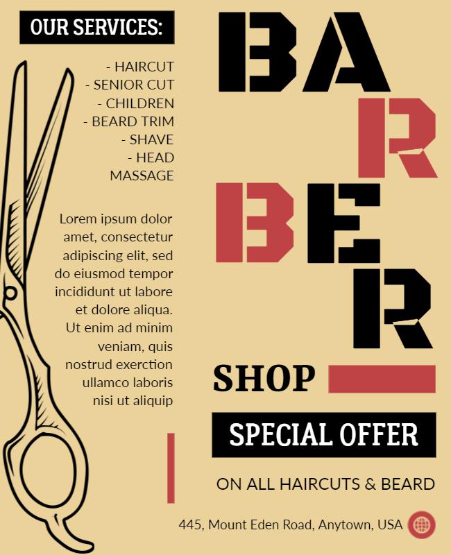Special offer flyer design illustration